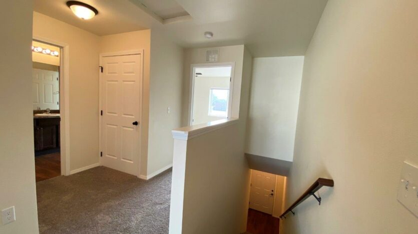 Lake Area Townhomes Phase II in Madison, SD - Floor Plan E Stairway and Hallway