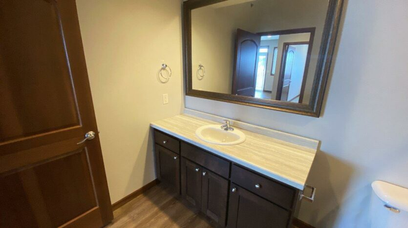 One Willow Creek Apartments in Watertown, SD - Willow Oak Guest Bathroom Vanity