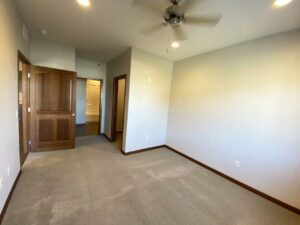 One Willow Creek Apartments in Watertown, SD - Maple Bedroom Closet and Bathroom View
