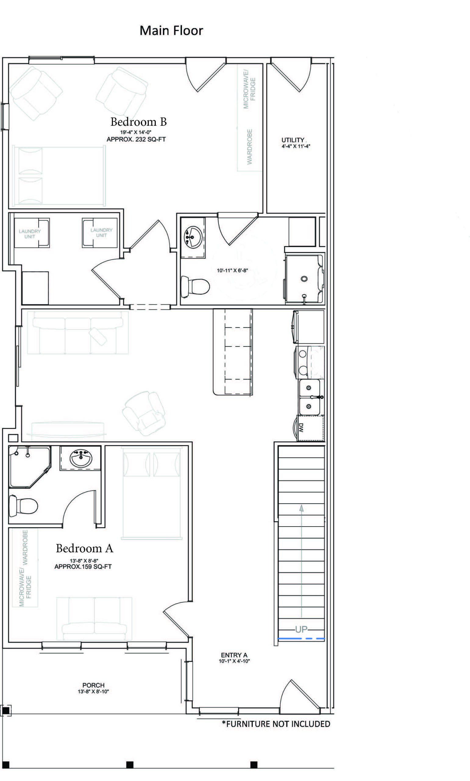 Main Level Unit Floor Plan