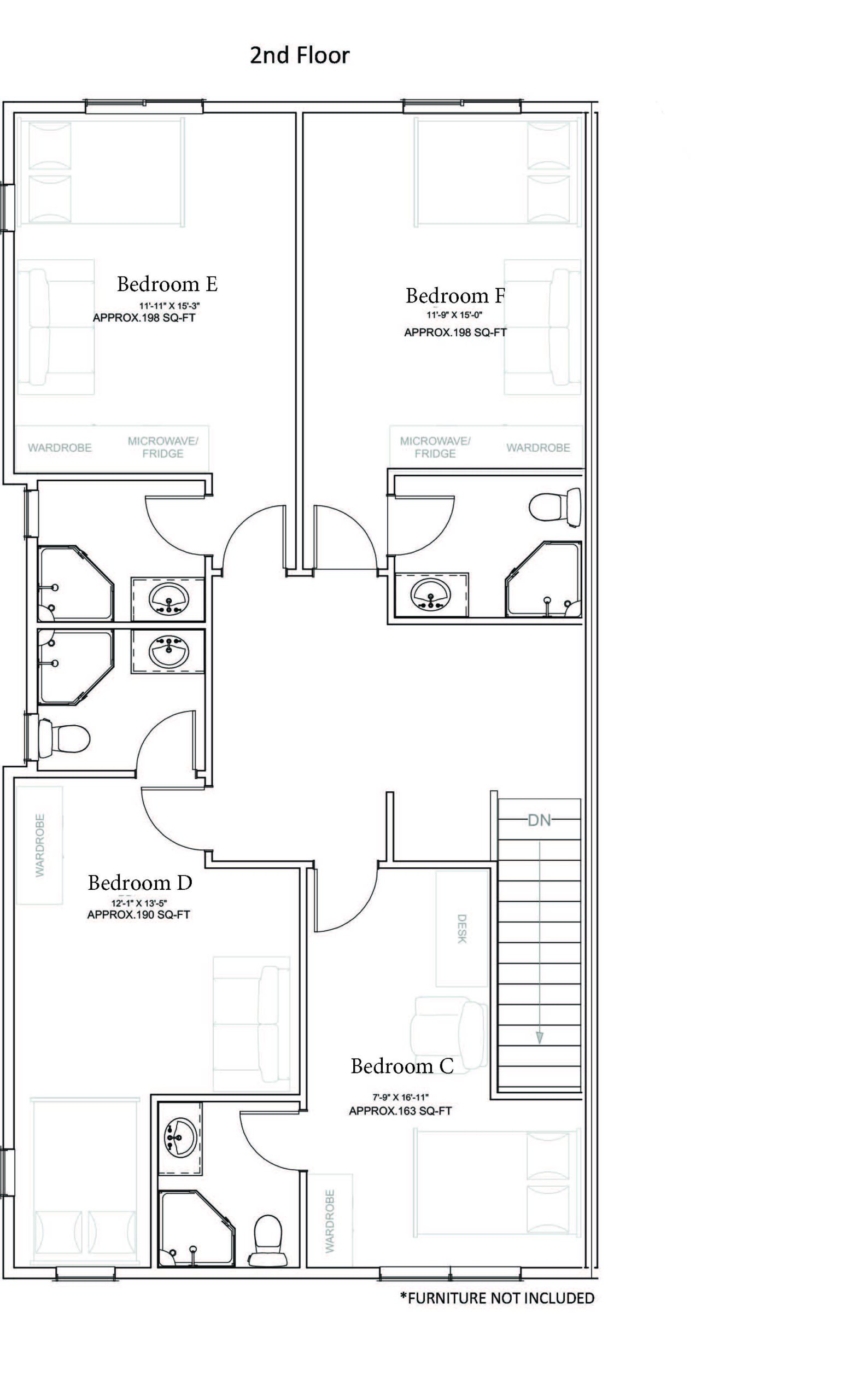 Upper Level Unit Floor Plan