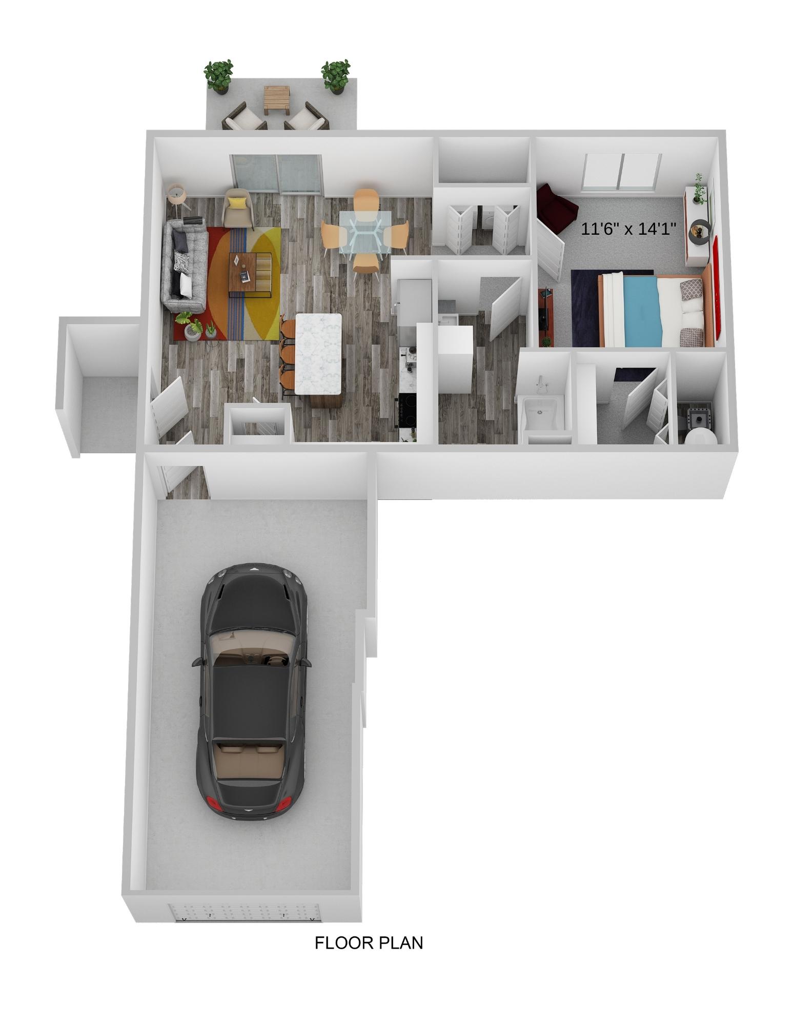 One Bedroom Ground Level - Phase I