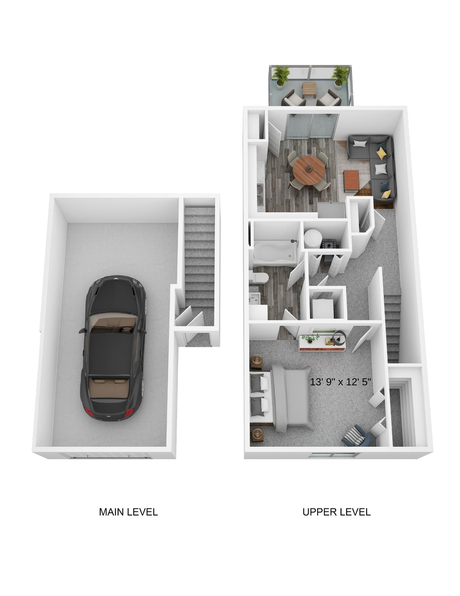 One Bedroom Upper Level - Phase I