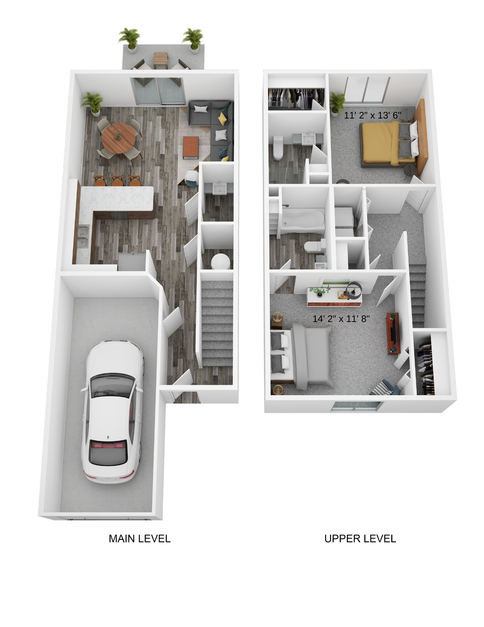 Two Bedroom Two Level - Phase I
