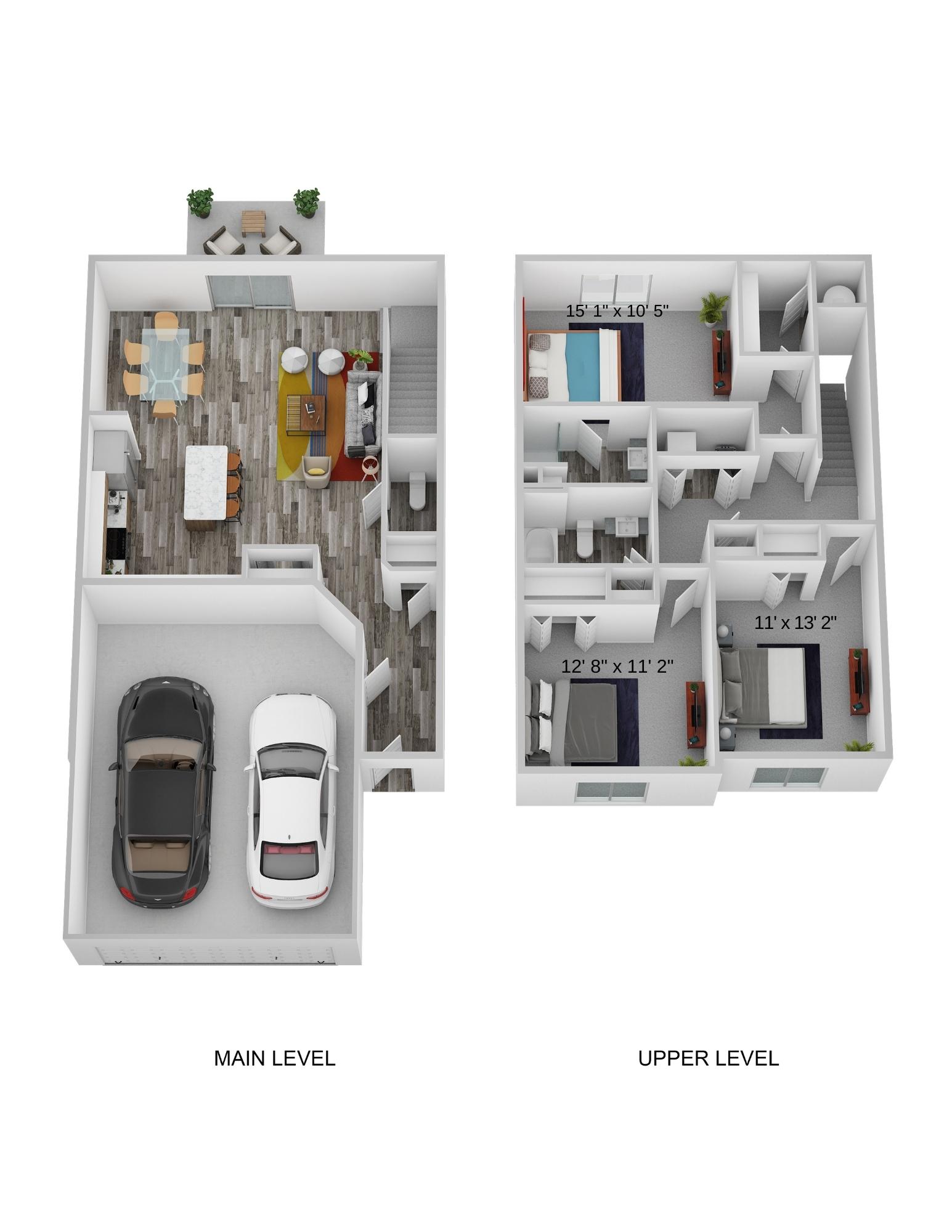 Three Bedroom Two Level - Phase I