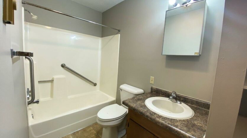 Bluestem Apartments in Canistota, SD - 1 Bedroom Apartment Bathroom