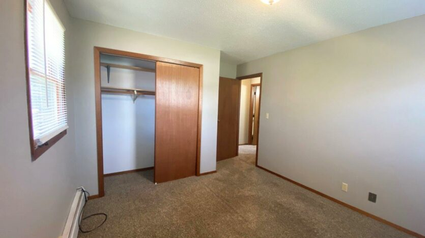 Bluestem Apartments in Canistota, SD - 2 Bedroom Apartment Bedroom 1 Closet