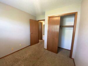 Bluestem Apartments in Canistota, SD - 2 Bedroom Apartment Bedroom 2 Closet