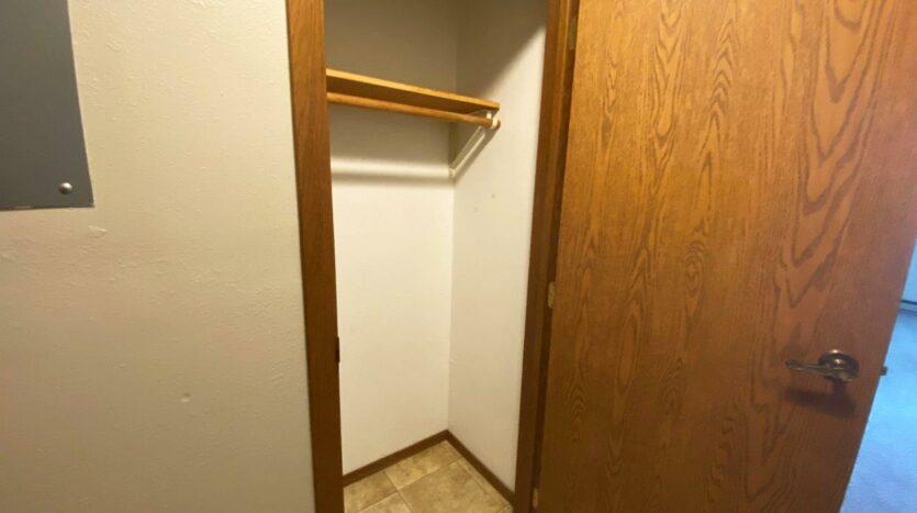Bluestem Apartments in Canistota, SD - 1 Bedroom Apartment Front Closet