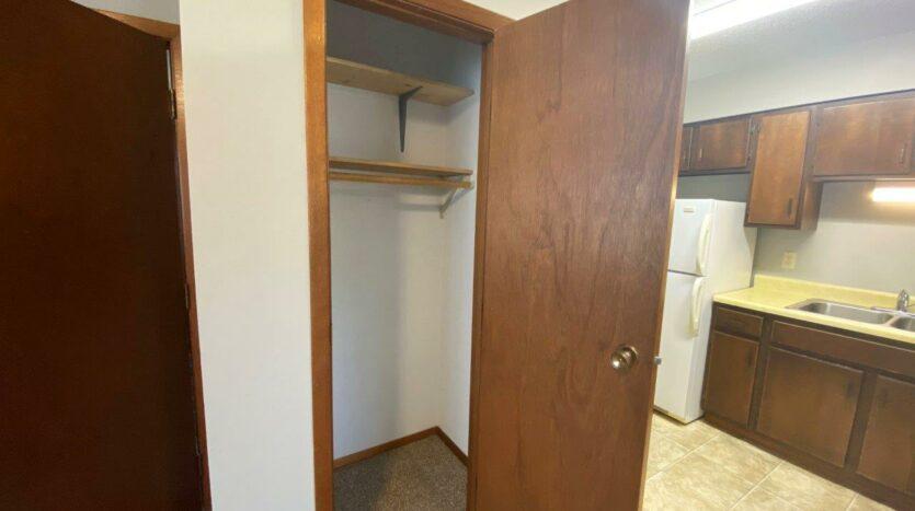 Bluestem Apartments in Canistota, SD - 2 Bedroom Apartment Front Closet