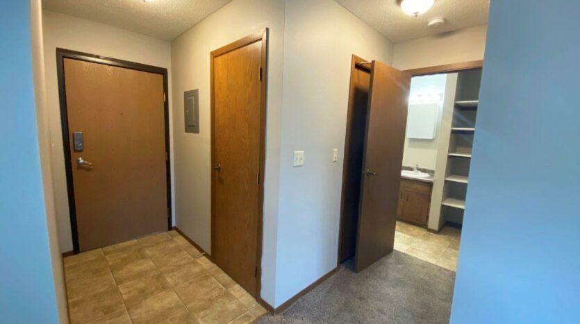 Bluestem Apartments in Canistota, SD - 1 Bedroom Apartment Front Door and Hallway