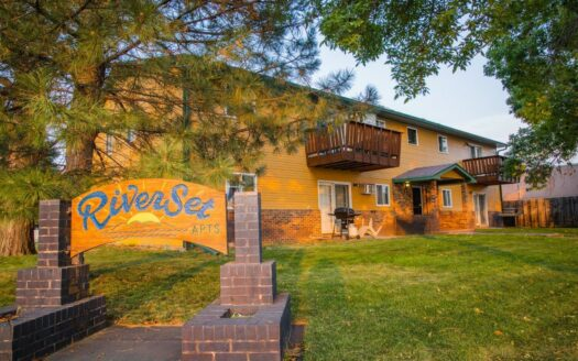 Riverset Apartments in Pierre, SD - Exterior and Property Sign