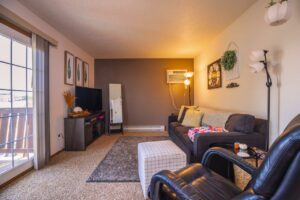 Riverset Apartments in Pierre, SD - 1 Bedroom Living Room