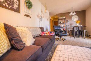 Riverset Apartments in Pierre, SD - 1 Bedroom Living Room3
