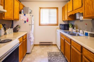 Riverset Apartments in Pierre, SD - 1 Bedroom Kitchen