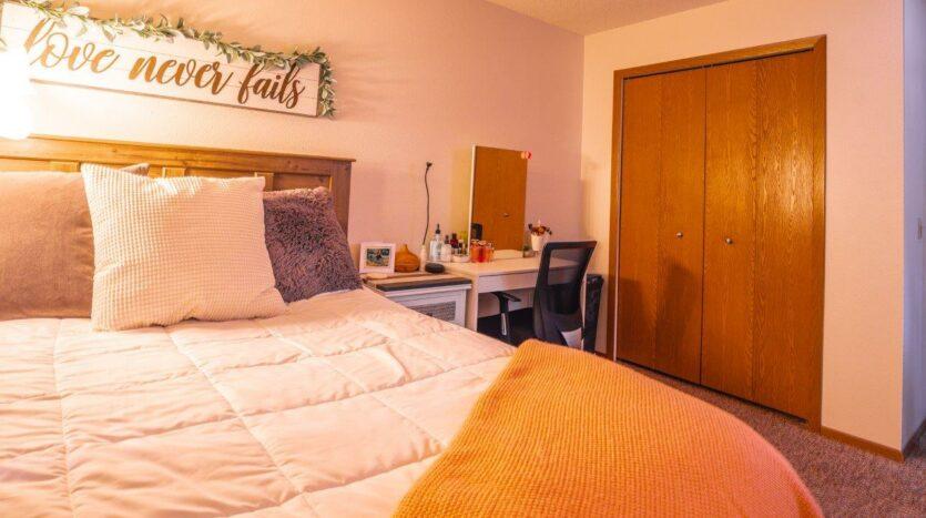 Riverset Apartments in Pierre, SD - 1 Bedroom Bedroom Closet