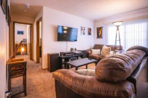 Riverset Apartments in Pierre, SD - 2 Bedroom Alternative Floor Plan Living Room