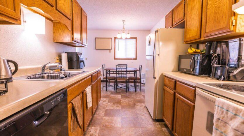 Riverset Apartments in Pierre, SD - 2 Bedroom Alternative Floor Plan Kitchen