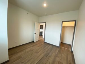 Flats on 8th in Watertown, SD - 1 Bedroom Apartment Bedroom Closet