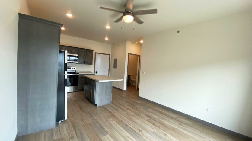 Flats on 8th in Watertown, SD - 1 Bedroom Apartment Living Area