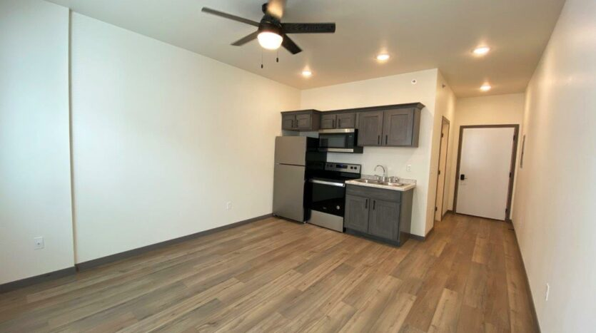 Flats on 8th in Watertown, SD - Studio Apartment Living Area2