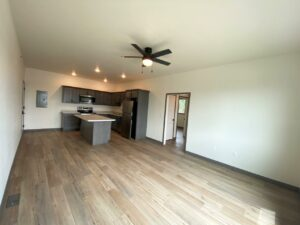 Flats on 8th in Watertown, SD - 2 Bedroom Apartment Living Area