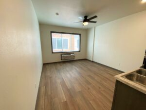Flats on 8th in Watertown, SD - Studio Apartment Living Area