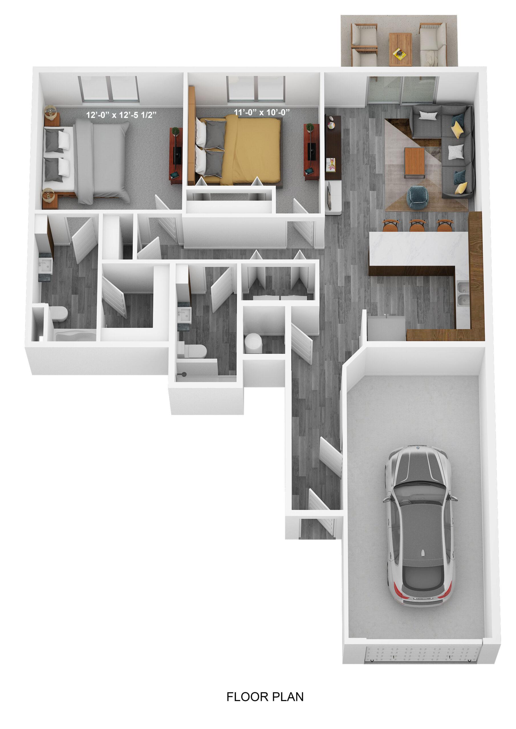 Two Bedroom Ground Level - Phase II