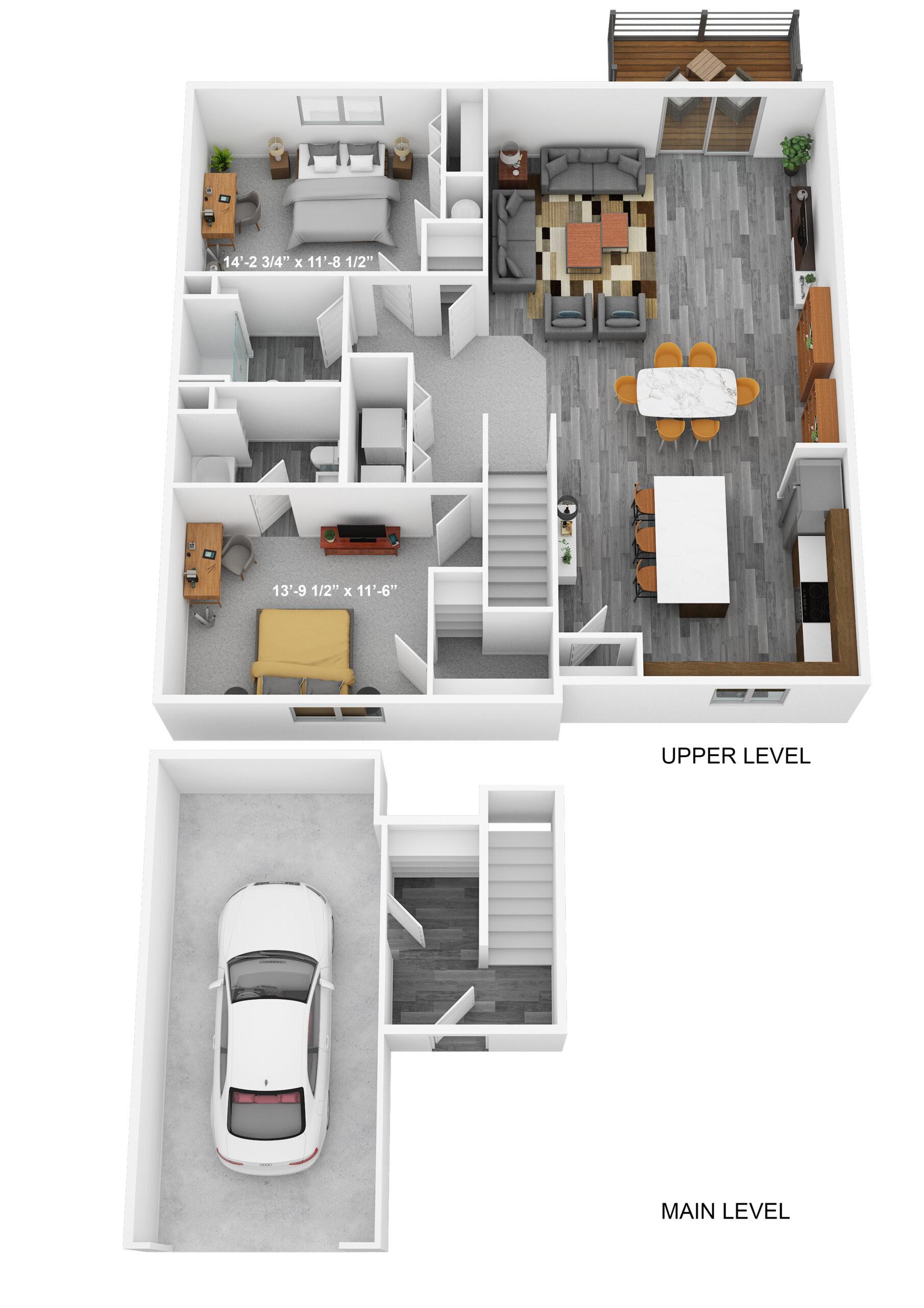 Two Bedroom Upper Level - Phase II